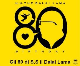 dalai lama 80 anni