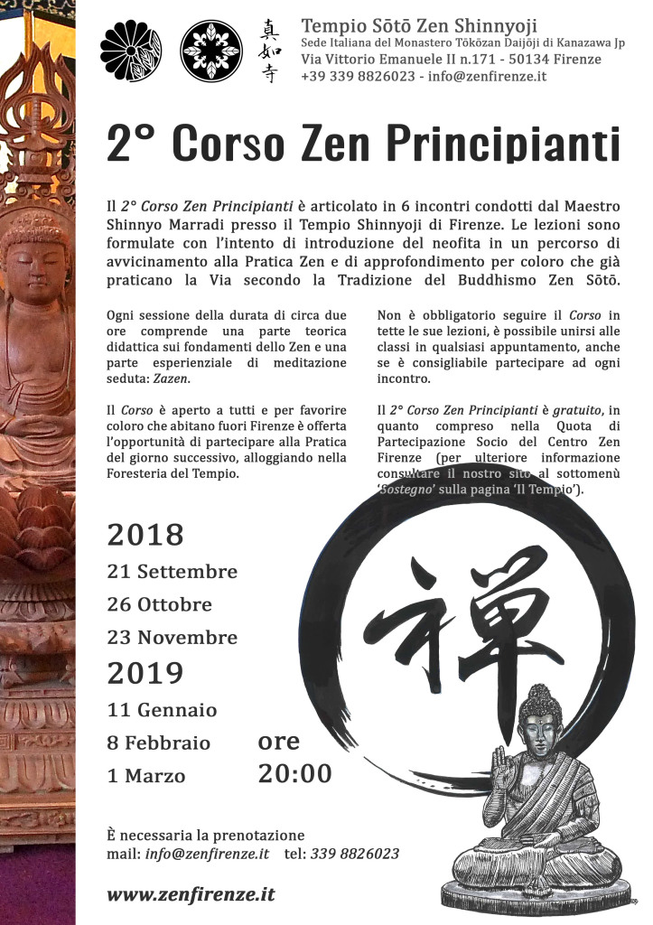 2° Corso Zen Principianti 2018-19